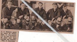 V.C. ZELZATE.1935. SPEELDE TEGEN DE GREEN-BOYS TE DOORNZELE 3 - 1 - Vecchi Documenti