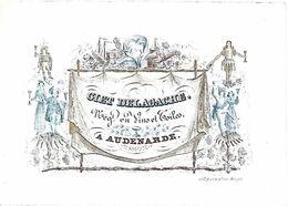 Audenarde - GIET DELAGACHE Négt En Vins Et Toiles(porseleinkaart) - Oudenaarde