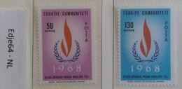 Turkije 1968 Internationaal Jaar Van De Mensenrechten - 1921-... República