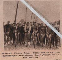 BAESRODE..1932.. NIEUWE BRIEL KOERS OVERWINNAAR FRANKAERT VAN BAESRODE - Vecchi Documenti