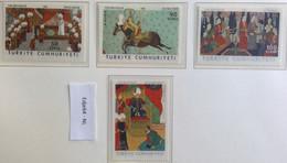 Turkije 1968 16e Eeuwse Turkse Miniaturen Uit Het Topkapi Museum - 1921-... República