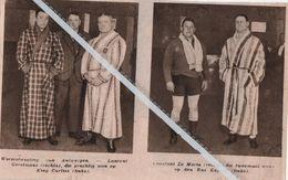 WORSTELEN..1932.. WORSTELMETING LAURENT GERSTMANS WON TEGEN KING CURTISS / CONSTANT LE MARIN TEGEN DE RUS KOJEFF - Vecchi Documenti
