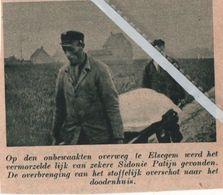 ELSEGEM..1938.. OP DEN ONBEWAAKTE OVERWEG VERONGELUKTE SIDONIE PATIJN - Vecchi Documenti