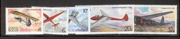 USSR/RUSSIA 1982 Gliders; Scott Catalogue No(s). 5071-5075 MNH - Avions