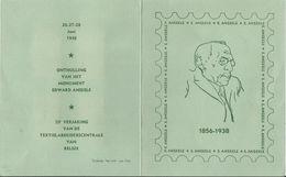 1948 - COB N° 781 à 784 - Obl.(o) Sur Feuillet Souvenir - ANSEELE-1856/1938 - Texte En Néerlandais - Belgium
