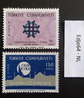 Turkije 1967 Keramiektentoonstelling En Stuwdammencongres - 1921-... República