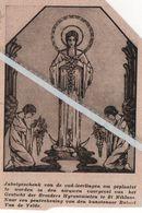 ST. NIKLAAS..1932.. JUBELGESCHENK VOOR DE NIEUWE VOORGEVEL GESTICHT DER BROEDERS HYRONIMIETEN/ ROBERT VAN DE VELDE - Vecchi Documenti