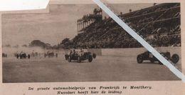 MONTHERY..1933.. DE GROTE MOBIELPRIJS NUVOLARI HEEFT DE LEIDING - Vecchi Documenti