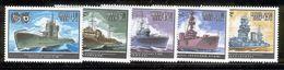 USSR/RUSSIA 1982 World War II Warships; Scott Catalogue No(s). 5085-5089 MNH - Bateaux