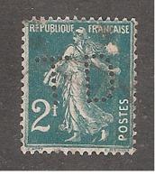 Perfin/perforé/lochung France No 239 TD Thérèse De Dillmont - France