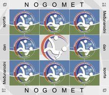 2014 International Sports Day. Football, N° 385, Sheet Of 8 Stamps, Croat Post Mostar, Bosnia And Herzegovina, MNH - Bosnie-Herzegovine