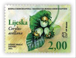 2014 Myths And Flora. - Hazel, N° 384, Croat Post Mostar, Bosnia And Herzegovina, MNH - Bosnie-Herzegovine