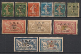 Syrie - 1920 - N°Yv. 34 à 44 - Série Complète - Neuf Luxe ** / MNH / Postfrisch - Syria (1919-1945)
