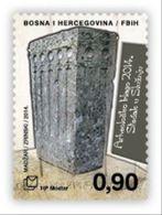 2014 Archaeological Treasure. - Stećak Tombstone In Služanj, N° 383, Croat Post Mostar, Bosnia And Herzegovina, MNH - Bosnie-Herzegovine