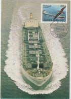 Carte-Maximum PORTUGAL - MADERE N° Yvert 111 (PETROLIER) Obl Sp Porto Santo 1988 - Madeira