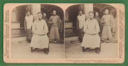 CHINE CHINA PRINCE CHING COMMANDER OF CITY GUARD PEKIN PHOTOS STEREO SUR CARTON 1900 UNDERWOOD - China