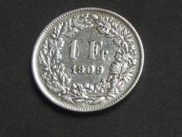 SUISSE  - 1 Franc 1909 En  Argent-Silver    **** ACHAT IMMEDIAT **** - Suisse