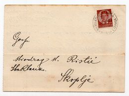 1939. KINGDOM OF YUGOSLAVIA,CROATIA,VINKOVCI STANICA/STATION TO SKOPJE,CORRESPONDENCE CARD - Briefe U. Dokumente