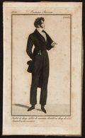 Gravure Originale - Costume Parisien 1821 - N° 2018 - Habit De Drap, Pantalon De Casimir .. - Voir Scan - Sonstige
