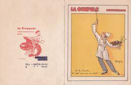 1950 - LA COUPOLE - MONTPARNASSE - DINER OFFERT PAR LA COUPOLE POUR L'ANNIVERSAIRE DE L'ECHELLE (PEINTRES) - Menus