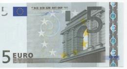 """5 EURO  """"Y""""  GREECE    Firma Duisenberg     N 001 A3   /  FDS - UNC - EURO"""