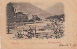 MERAN-MERANO-BOZEN-BOLZANO-HOTEL=MERANERHOF=CARTOLINA VIAGGIATA IL 13-7-1900 - Merano