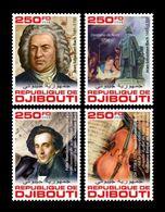 Djibouti 2020 Mih. 3309/12 Music. Composer Johann Sebastian Bach MNH ** - Djibouti (1977-...)
