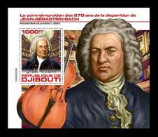 Djibouti 2020 Mih. 3313 (Bl.1239) Music. Composer Johann Sebastian Bach MNH ** - Djibouti (1977-...)