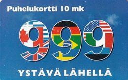 FINLAND(chip) - 999 Ystava Lahella, HPY Telecard, CN : 000151, Tirage 3400, 12/97, Used - Finlande