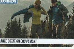 CARTE DOTATION EQUIPEMENT Decathlon 2021 - France