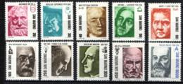 SAN MARINO - 1982 - PIONIERI DELLA SCIENZA: ARCHIMEDE, COPERNICO, NEWTON, LAVOISIER, CURIE, KOCH, EDISON, MARCONI - MNH - Unused Stamps