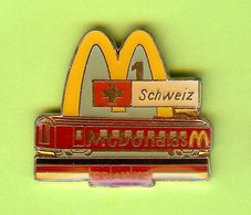 Pin's Mac Do McDonald's Schweiz Franke Train - 10X23 - McDonald's
