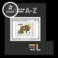 Djibouti 2020 Mih. 3364 (Bl.1252) Fauna. WWF Stamps On Stamps. Lithuania. European Bison MNH ** - Dschibuti (1977-...)