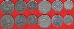 New Caledonia Set Of 6 Coins: 1 - 50 Francs 1952-2019 - New Caledonia