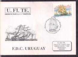 Uruguay - 1996 - FDC - Vieux Bateaux En Uruguay - Cygnus - Bateaux