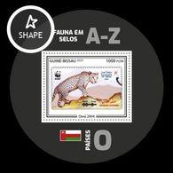 Guinea-Bissau 2020 Mih. 11149 (Bl.1915) Fauna. WWF Stamps On Stamps. Oman.  Arabian Leopard (I) MNH ** - Guinée-Bissau