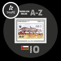 Guinea-Bissau 2020 Mih. 11150 (Bl.1916) Fauna. WWF Stamps On Stamps. Oman.  Arabian Leopard (II) MNH ** - Guinée-Bissau