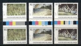 Cocos Keeling Is 1987 Island Views Gutter Pr MUH - Cocos (Keeling) Islands