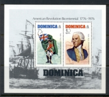 Dominica 1976 American Bicentennial MS MUH - Dominica (1978-...)