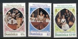 Dominica 1978 QEII Coronation 25th Anniv. MUH - Dominica (1978-...)