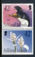 Falkland Is 2005 Cormorant & Orchid Pr MUH - Falkland
