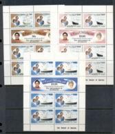 St Vincent Grenadines 1981 Royal Wedding Charles & Diana 3x Sheetlet MUH - St.Vincent & Grenadines