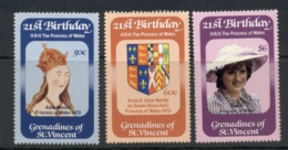 St Vincent Grenadines 1982 Princess Diana 21st Birthday MUH - St.Vincent & Grenadines