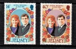 Jersey 1986 Royal Wedding - Andrew & Sarah Set Of 2 MNH - Jersey