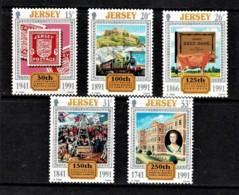 Jersey 1991 Anniversaries Set Of 5 MNH - Jersey