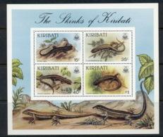Kiribati 1981 Lizards, Skinks MS MUH - Kiribati (1979-...)