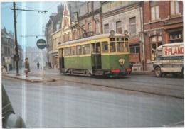 Dépt 59 HAUBOURDIN  Le Tramway Ligne H Le 8 Février 1964 Photo :Jacques Bazin - Haubourdin