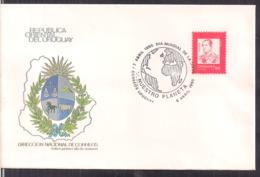 Uruguay - 1990 - Lettre - Cachets Spéciaux - Journée Mondiale De La Santé - Cygnus - Medicina