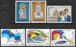 Cyprus 1980-1  3 Diff Sets MLH   2016 Scott Value $2.35 - Cyprus (Republic)
