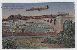 Zeppelin Farbige Karte über 3 Versch.Bahnen Ungebraucht - Germany